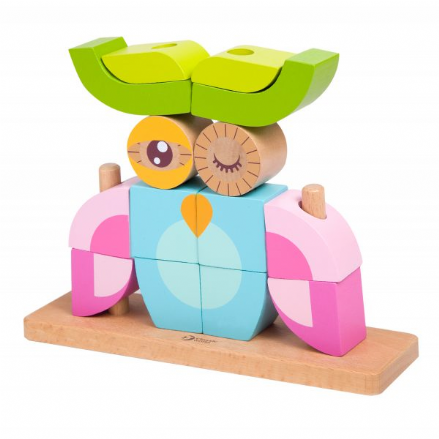 Classic World Wooden Owl Blocks Set